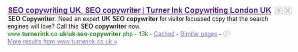 Page title showing in Google SERPs
