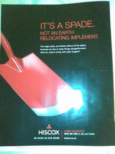 Hiscox ad