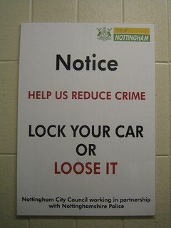 Help us reduce crime sign