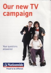 Nationwide Building Society TV campaign leaflet